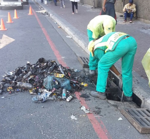 The CCID drain-cleaning team in action