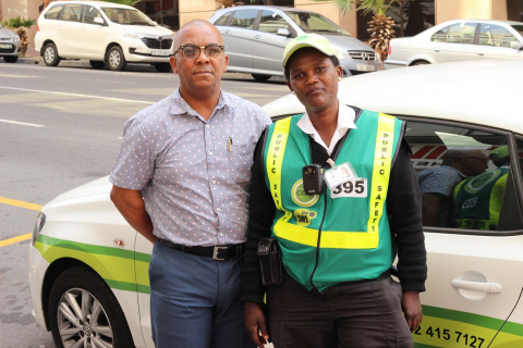 CCID Safety & Security Assistant Manager: Alec vd Rheede & Public Safety Officer Neliswa Sipika